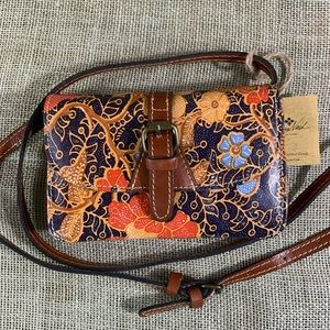 NWT Patricia Nash leather crossbody purse